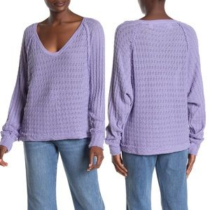 Free People Thien's Hacci Crochet Sweater